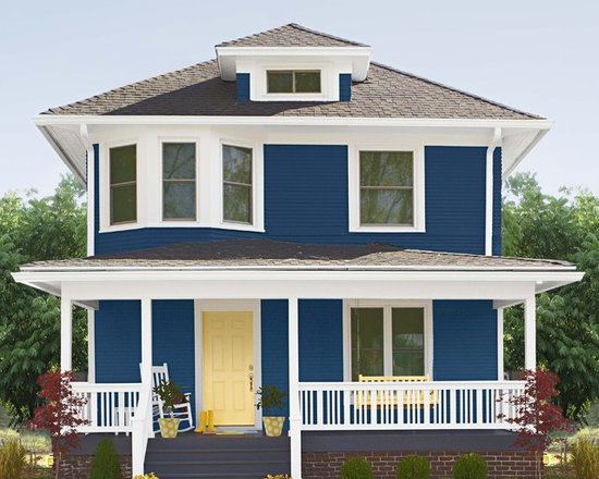 Navy blue house exterior design ideas pictures remodel and decor - Exterior paint blue decoration ...