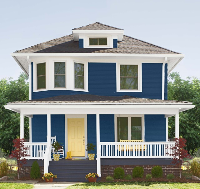 Home Exterior with Curb Appeal - Traditional - Exterior ...