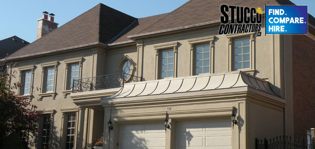 Home Exteriors using stucco and architectural foam mouldings exterior
