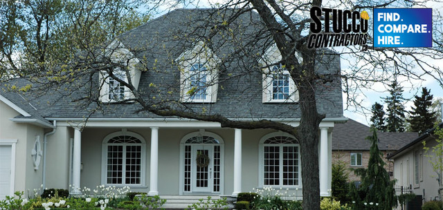 Home Exteriors Using Stucco And Architectural Foam Mouldings