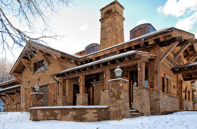 Horse Barn in Aspen, Colorado - Rustic - Exterior - Denver ...