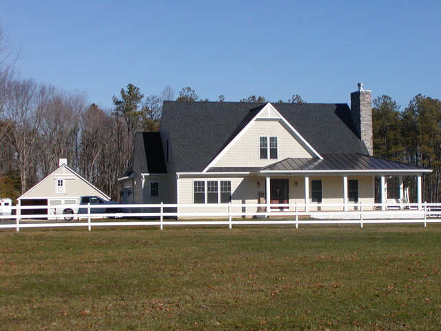 Horse Farm Custom Home Farmhouse Exterior Dc Metro