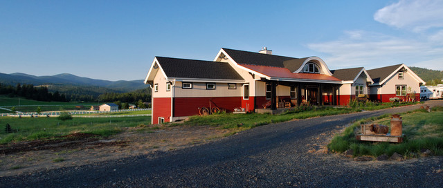 Horse Lover's Custom Home traditional-exterior