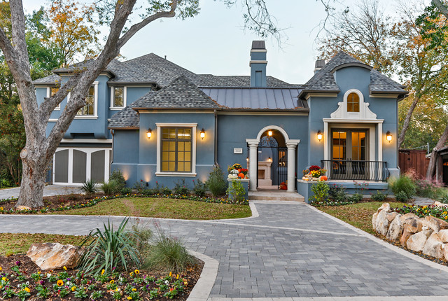 Horseshoe II Mediterranean Exterior Dallas on Stucco Color For Mediterranean Style Homes