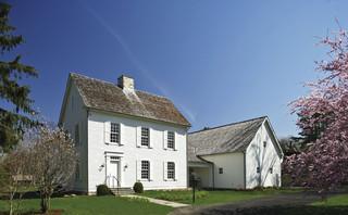 House in Darien rustic-exterior