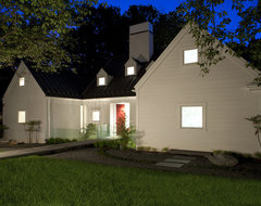 House of Light: Chevy Chase, Maryland Home inspired by Hugh Newell Jacobsen transitional-exterior