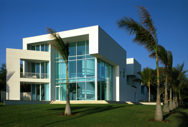 House of light modern exterior other metro by guy for Office building exterior design