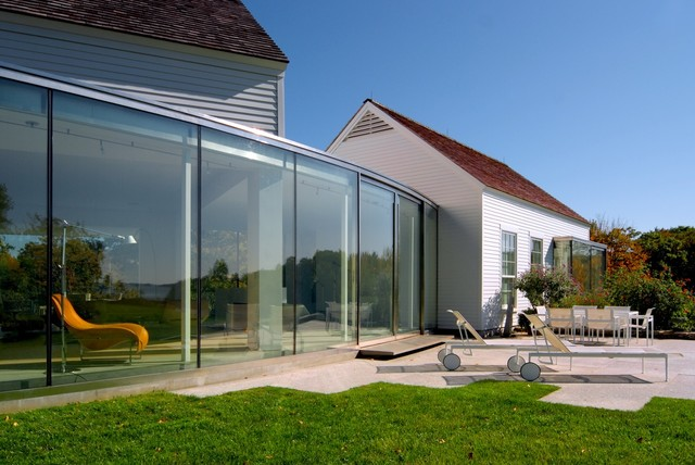 House on Casco Bay transitional-exterior