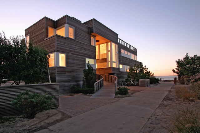 House On Fire Island Exterior Modern Exterior New