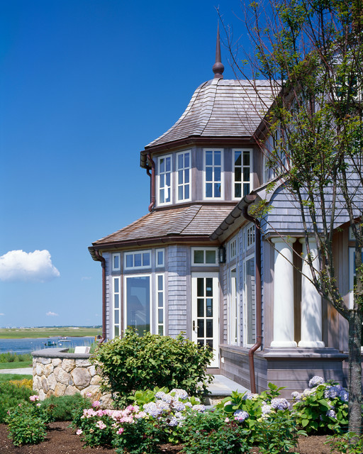 House on Oyster River traditional exterior