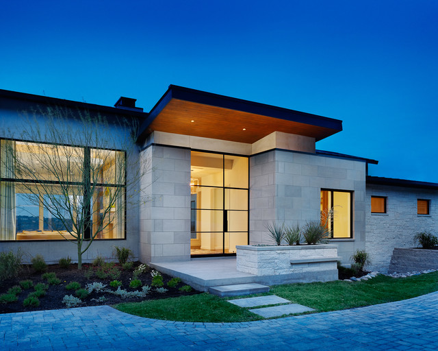 House on the hill contemporary exterior austin by for Modern house on hill