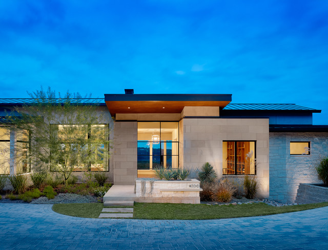 House on the Hill contemporary-exterior