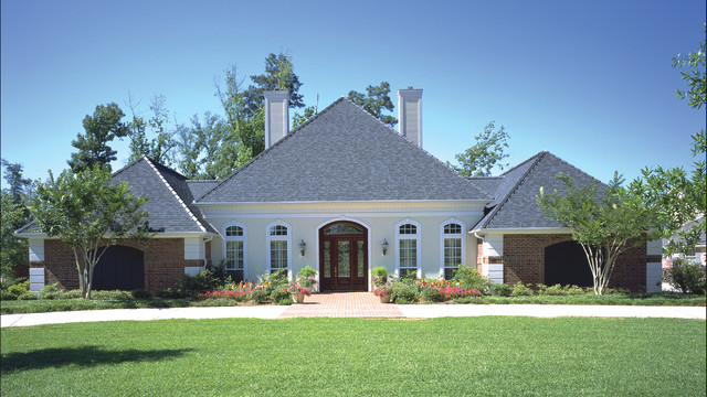House Plan #115D-0001 traditional-exterior