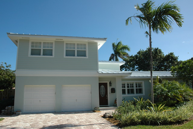 House renovation tropical exterior miami by for Tropical exterior house colors