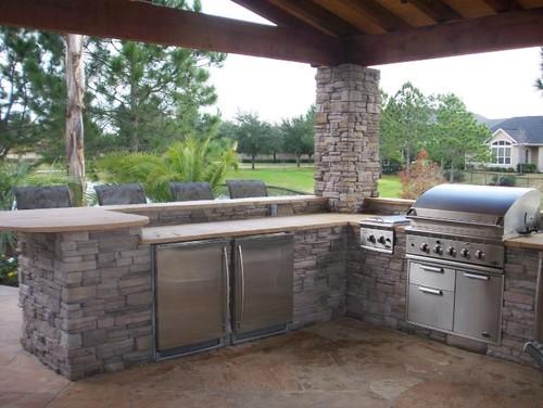 7 L-Shaped Outdoor Kitchen Design Ideas
