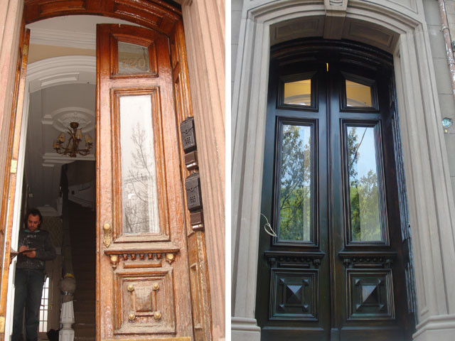nj traditional exterior by amighini antique custom doors