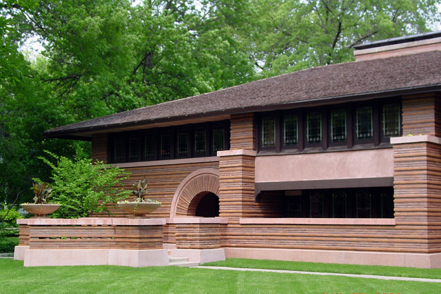 Huertley House in Oak Park Illinois, designed by Frank Lloyd Wright in 1902  exterior