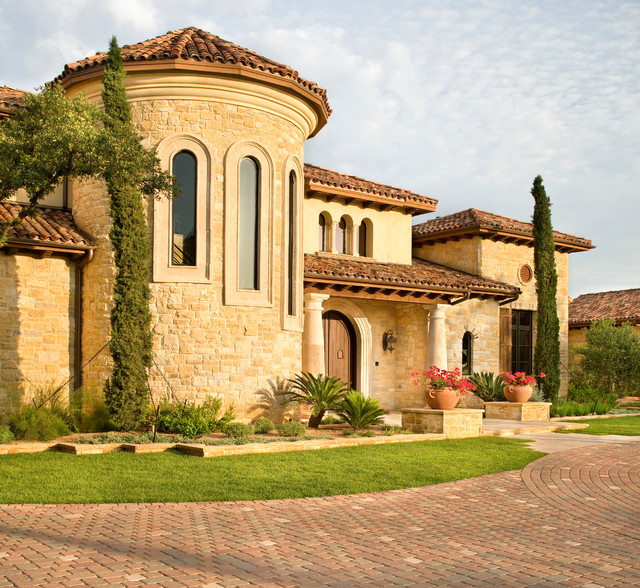 Hunterwood tuscan villa mediterranean exterior for Mediterranean villa architecture