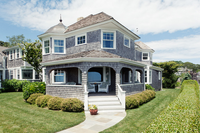 Hyannis port cottage beach style exterior new york for Beach house style exterior