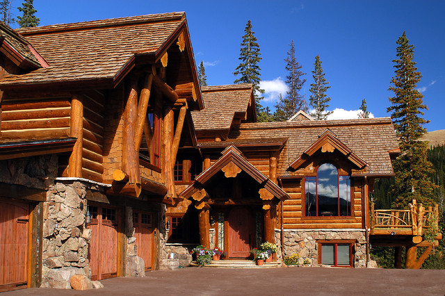 Hybrid Log House Traditional Exterior Other Metro