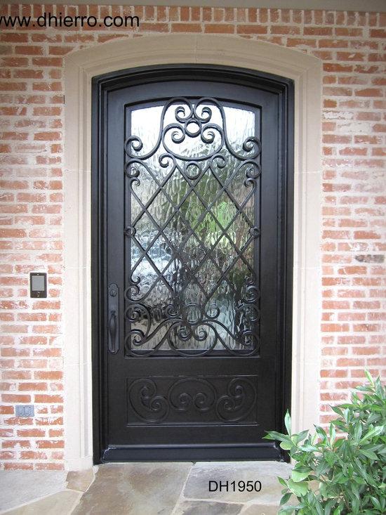 Iron Doors - Exterior - Single Iron Door with Kickplate
