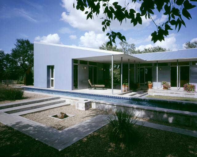 Impluvium House midcentury-exterior