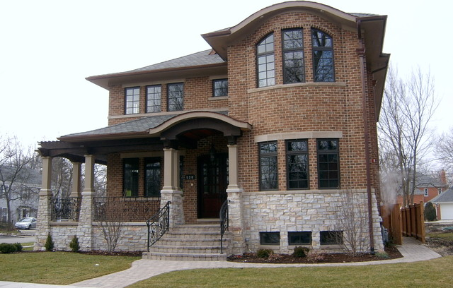 Impressive Brick And Stone Exterior Construction