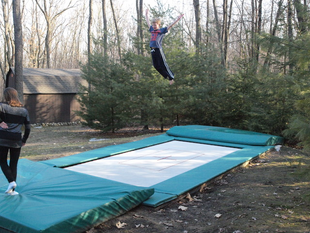 In Ground Trampoline Exterior Grand Rapids By Maxair