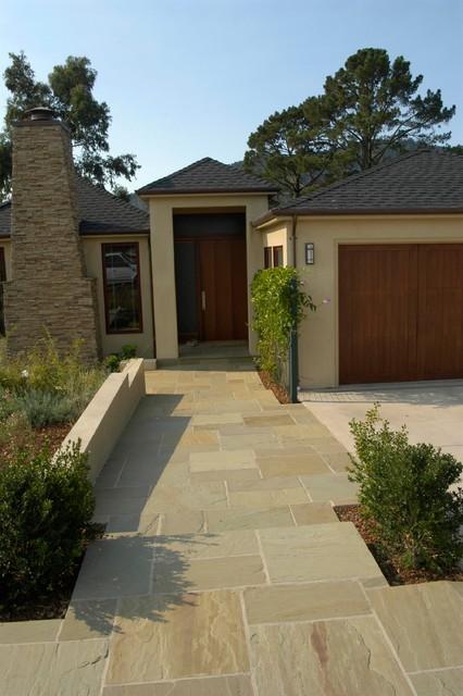 Indian Sandstone Walkway traditional-exterior