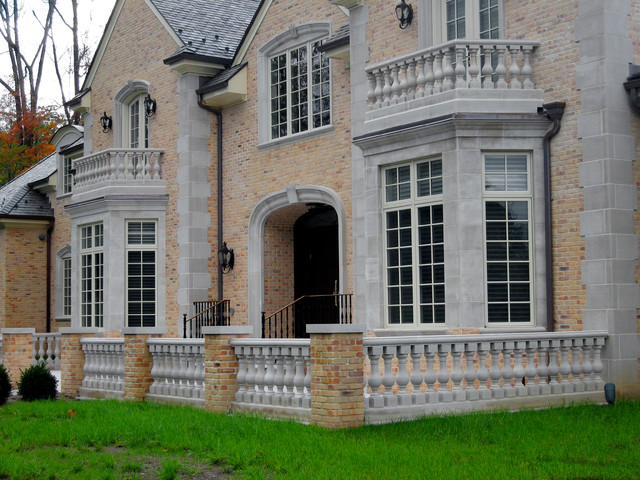 Indiana Limestone Facade, Bedford, Ct Traditional Exterior