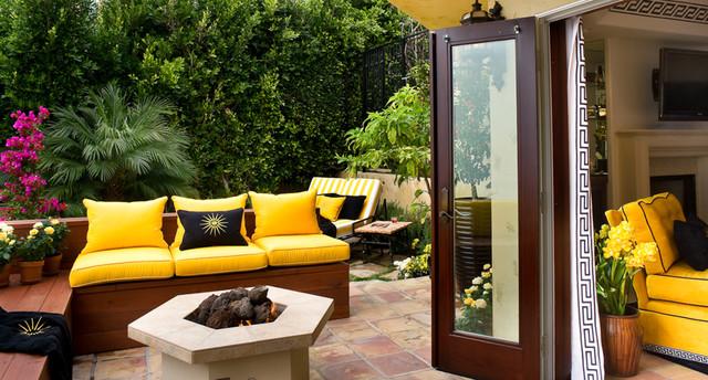 Indoor outdoor living mediterranean-exterior
