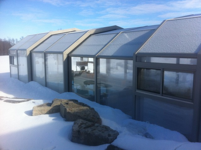 Indoor pool setting with our retractable pool enclosures modern exterior other metro by Retractable swimming pool enclosures