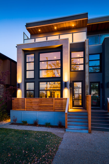 Inner city infill contemporary exterior calgary by - What is a contemporary home ...