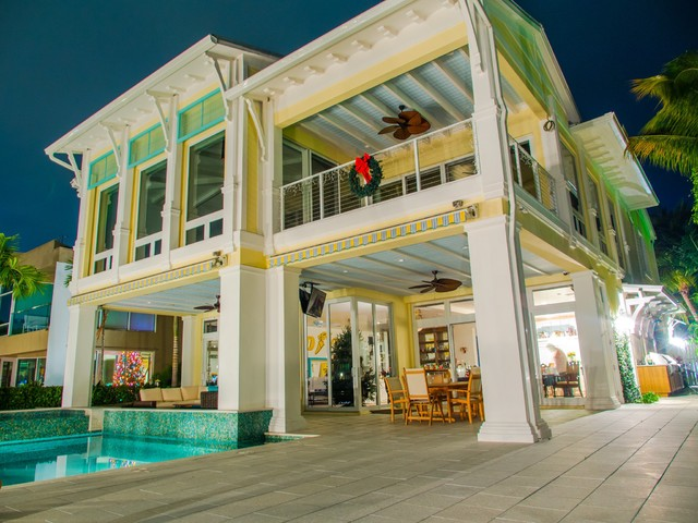 Intracoastal Key West Style Custom House Tropical Exterior Miami By Nmb Custom Homes And