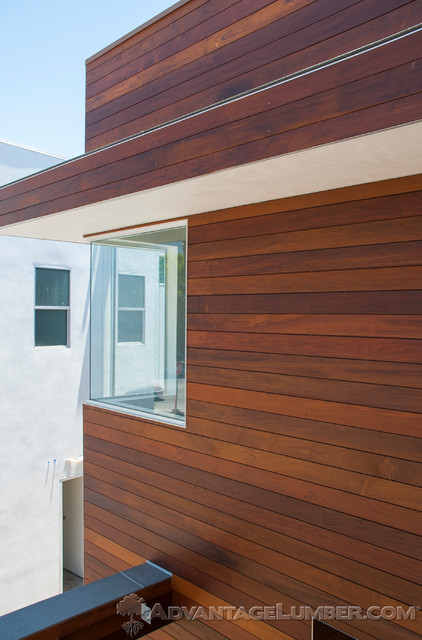 Ipe shiplap siding encino ca contemporary exterior for Metal shiplap siding