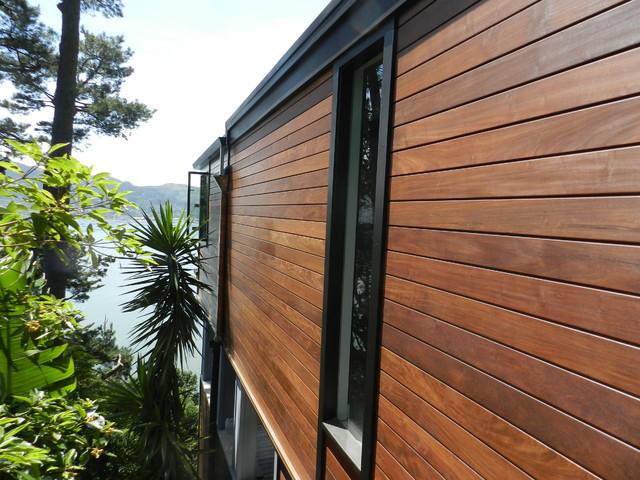 Ipe siding and ipe decking project contemporary exterior san francisco by mataverde decking - Painting wood siding exterior decor ...