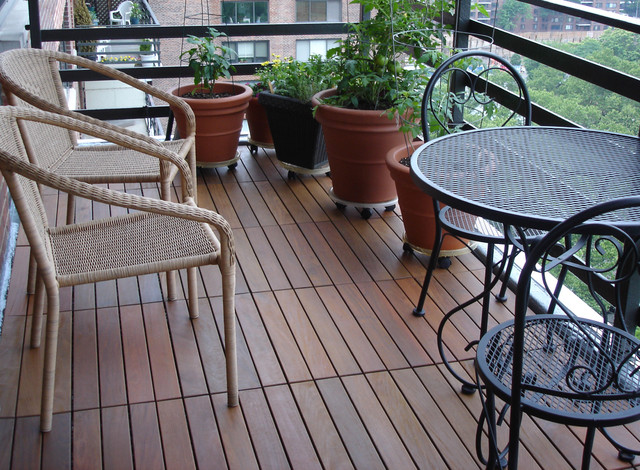 ipe wood deck tiles modern exterior new york by handydeck. Black Bedroom Furniture Sets. Home Design Ideas