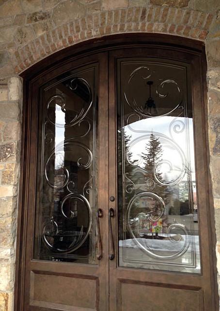 Iron Entry Doors Mediterranean Exterior Phoenix By