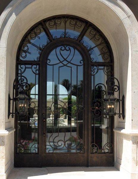 Iron Entry Doors Mediterranean Exterior Phoenix By Colletti Design Ir