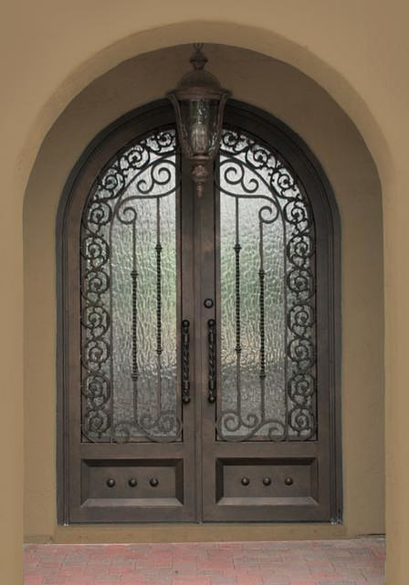 Iron Entry Doors Mediterranean Exterior Phoenix By
