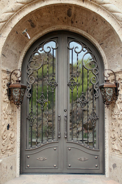 Iron Entry Doors - Mediterranean - Exterior - phoenix - by Colletti Design Iron Doors