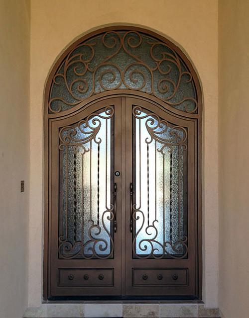 Iron Entry Doors mediterranean-exterior & Iron Entry Doors - Mediterranean - Exterior - Phoenix - by Colletti ...
