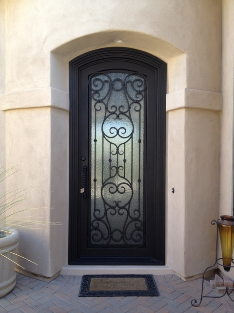 Iron Entry Doors traditional-exterior