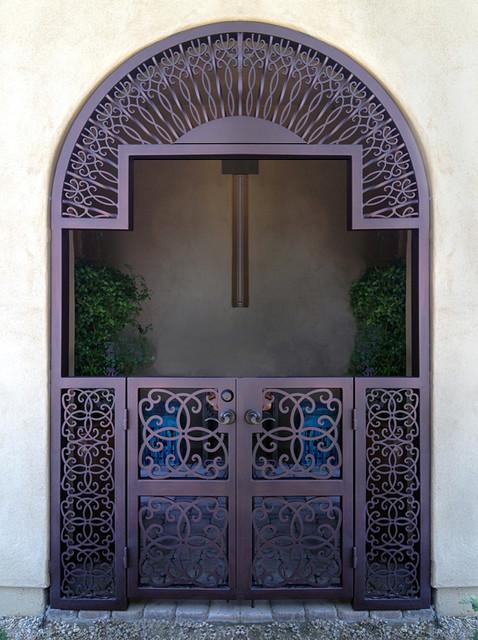 Iron Gates w/ Transom mediterranean-exterior