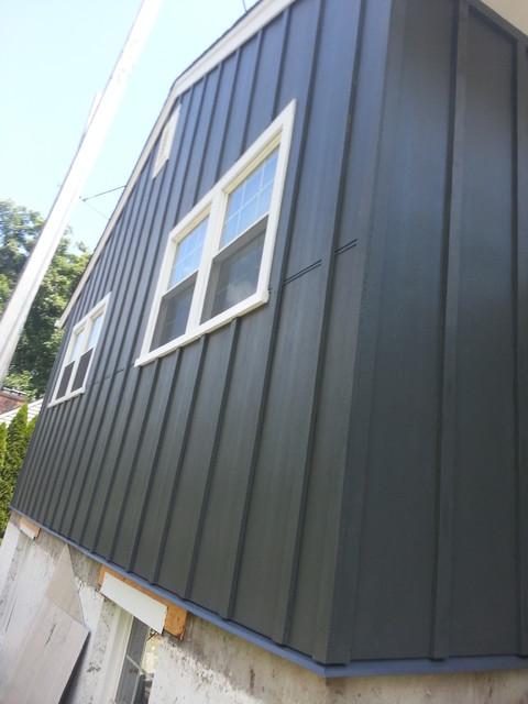 Iron Grey Hardiepanel Board And Batten Traditional Exterior Bridgeport By Burr Roofing