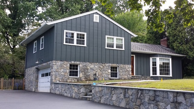 Iron Grey HarPanel Board and Batten - Traditional - Exterior ... Board And Batten Exterior on board & batten shutter plans, solid surfacing panels exterior, board and batt exterior, board n batten, board batten home exterior,