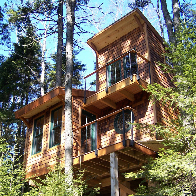 Island Treehouse Traditional Exterior Portland Maine