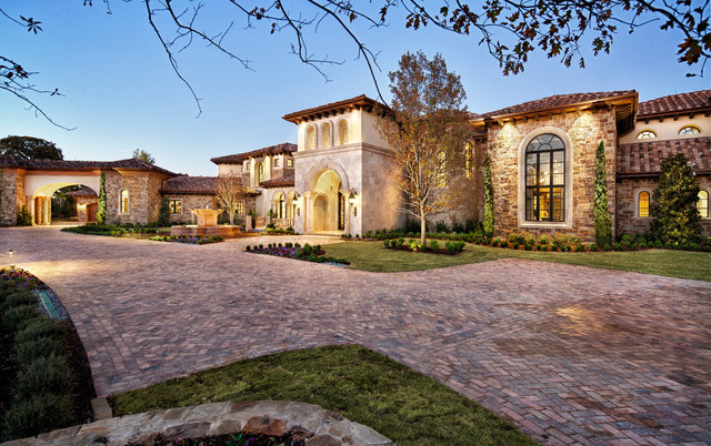 Italian elegance exterior for Spanish style homes for sale in dallas tx