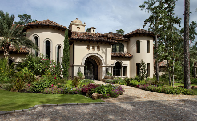 Italian modern mediterranean exterior austin by for Contemporary tuscan homes