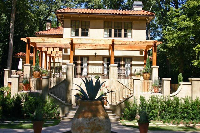 Italian villa traditional exterior atlanta by for Italian villa architecture